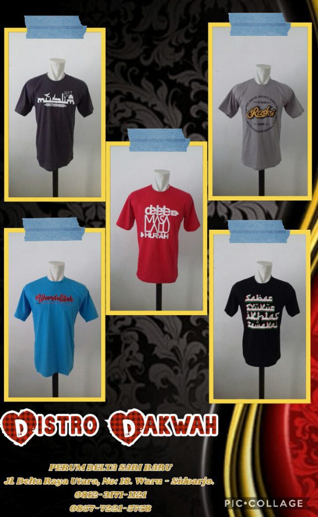 Supplier Kaos Distro Branded Murah di Surabaya